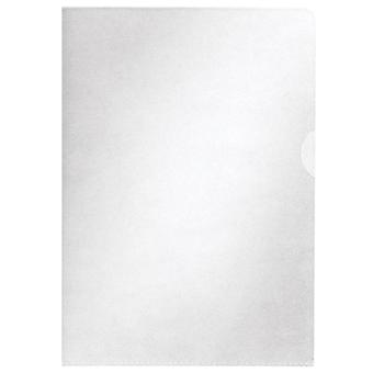 Centra Clear Plastic Wallet Cut Flush Folder A4 2 Openings 65 Microns Pack 100