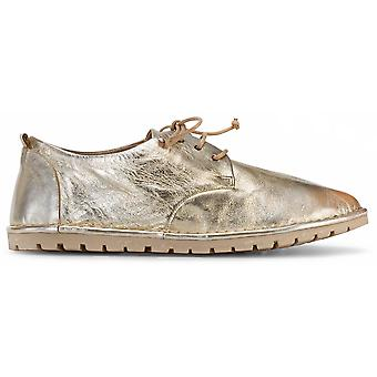 Marsell Sancrispaderbygold Women's Gold Leather Lace-up Shoes
