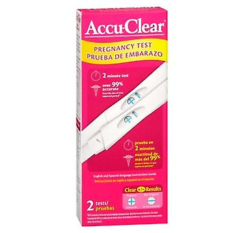 Accu-clear pregnancy test, 2 ea
