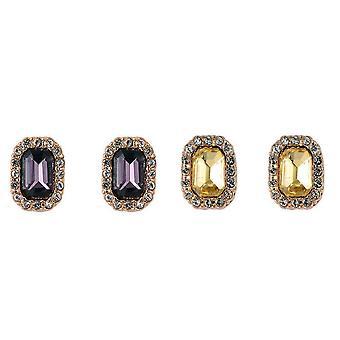 Sparkle Womens/Ladies Cluster Stud Earrings