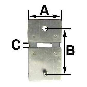 Pendulum clock suspension spring   b = 10.5mm (a = 8.0mm & c = 1.0mm)