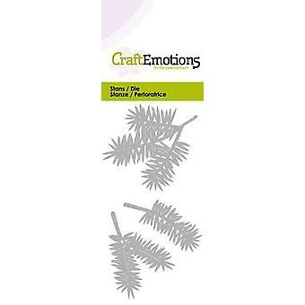 CraftEmotions Sterben - Kiefer Zweige Karte 5x10cm