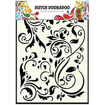 Nederlandsk Doobadoo A5 maske kunst sjablong - Swirls #715047