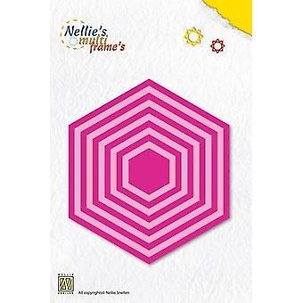 Nellie's Choice Multi Frame Die - basic hexagon MFD059