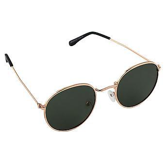 サングラス UV 400 周り偏光ガラス ゴールドグリーン S301_1 無料BrillenkokerS301_1