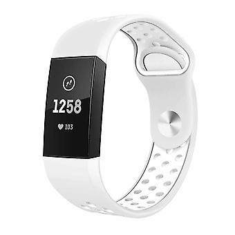 Bracciale in silicone Fitbit Charge 3 in due tonalità