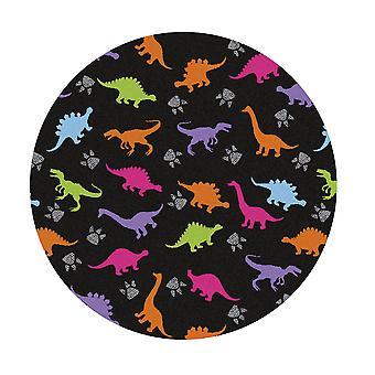 Kids Rug - Dino - Washable - Circle 115 cm