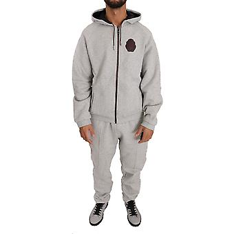 Gray cotton-sweater-pants tracksuit