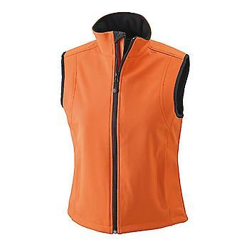 James and Nicholson Womens/Ladies Waterproof Softshell Vest