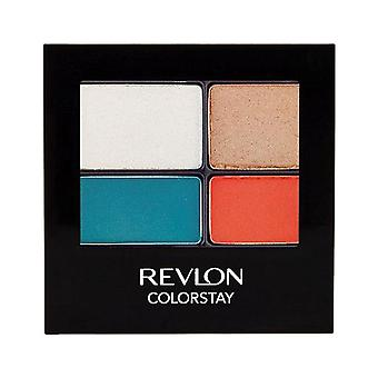 Revlon Colorstay 16 Hour Eye Shadow Quad, Wild 587 { 2 Pack }