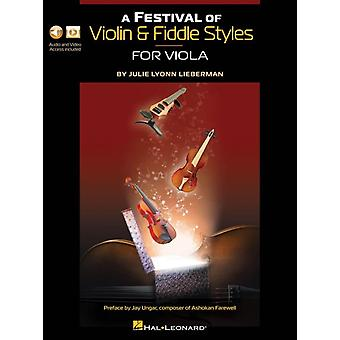 A Festival of Violin amp Fiddle Styles for Viola  Includes Audio and Video Access by Julie Lyonn Lieberman