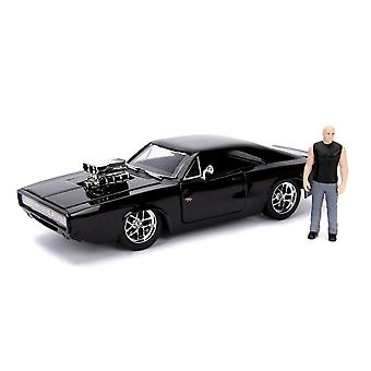 Fast & Furious 1970 Dodge Charger 1:24 w/ Dom Hollywood Ride