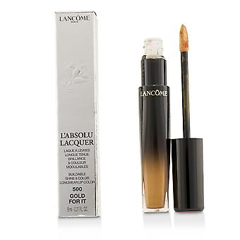 L'absolu lacquer buildable shine & color longwear lip color   # 500 gold for it 8ml/0.27oz