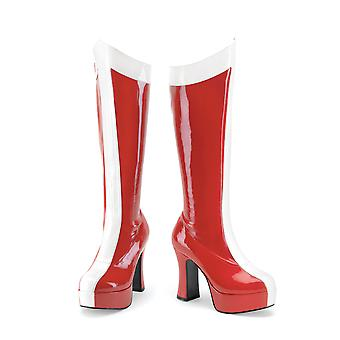 Funtasma Kleding & Accessoires > Kostuums & Accessoires > Kostuumlaarzen > Dames EXOTICA-305 Red-Wht Str Pat