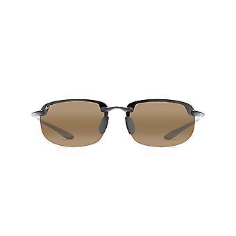 Maui Jim Ho-okipa Rectangular Sunglasses - Gloss Black/HCL Bronze Polarized - Medium