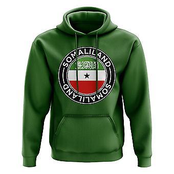 Somaliland Football Badge Hoodie (Grön)
