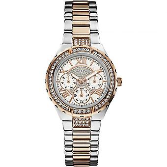 """Guess W0111L4 Viva """"Sparkling Hi-Energy"""" Silver- And Rose Gold-Tone Ladies Watch"""