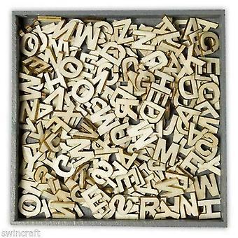Craftemotions Formes en bois – Alphabet Uppercase Letters, 250 Pièces