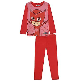 Pj masks girls pyjama set with detachable cape owlette