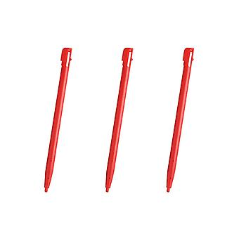 3x Red Touch Screen Stylus Plastic Pen for Nintendo 2DS