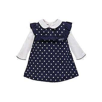 Brums Milano Fleece Dress With Spots And White Top