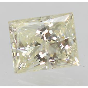 Certified 0.60 Carat I Color VS2 Princess Natural Diamond 5.22x4.25mm 2VG