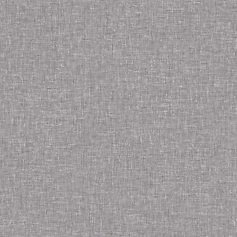 Linen Textured Wallpaper Arthouse Mid Grey Plain Woven Effect Spongeable