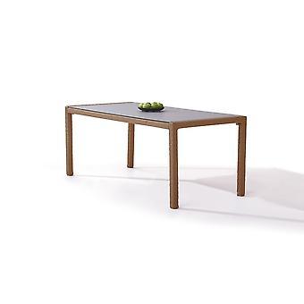 Polyrattan Table à manger 180 cm - caramel