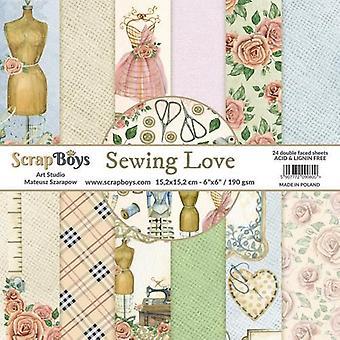 ScrapBoys Sewing Love paperpad 24 vl+cut out elements-DZ SELO-02 190gr 15,2cmx15,2cm