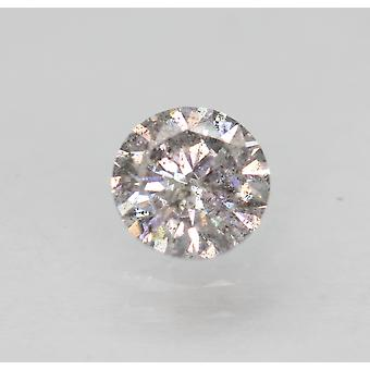 Cert 0.50 Ct Fancy Silver SI2 Round Brilliant Enhanced Natural Diamond 5.07m 3VG
