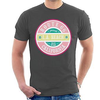 Route 66 Original Pink Beach Wear Men's T-Shirt