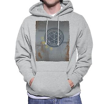 The Crystal Maze Rust Panel Men's Hooded Sweatshirt