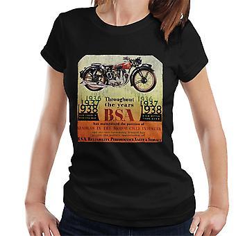 BSA Throughout The Years Women's T-Shirt