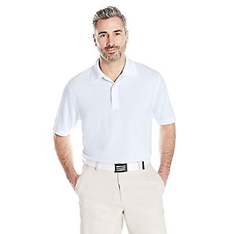 Essentials Men's Regular-Fit Quick-Dry Golf Polo Shirt, White, Medium