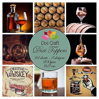 Dixi Craft Dixi Toppers Whiskey 9x9cm