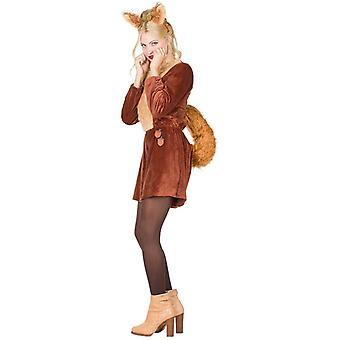 Orava Naisten puku karnevaali haalari haalari otsapanta orava eläinten puku