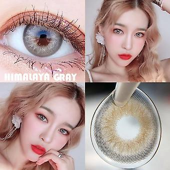 1pair Colored Contact Lenses - Cosmetic Contacts Natural Color Lens