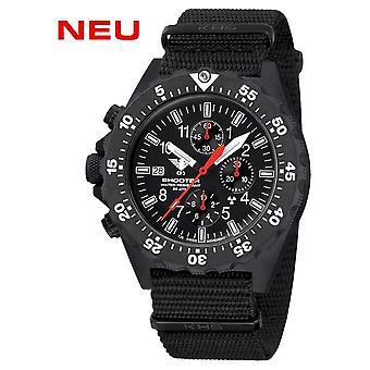 KHS - Men's Watch - Shooter MKII Chronograph Nato Band Black- KHS. SH2CF.NB