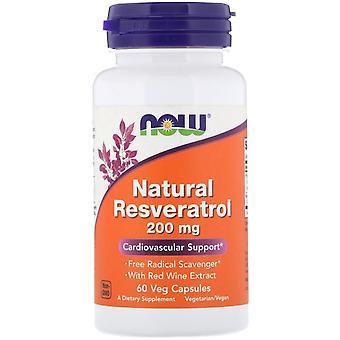 Jetzt Lebensmittel, Natürliche Resveratrol, 200 mg, 60 Veg Kapseln