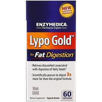 Enzymedica, Lypo Gold, Pour la digestion des graisses, 60 capsules