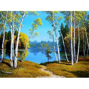 Home Decoration Diy Oil Painting By Numbers Full Set For Adults