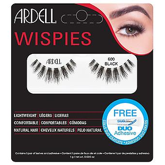 Ardell Wispies Cluster Vipper - 600 Sort - Natural Hair Falsies med DUO Lim