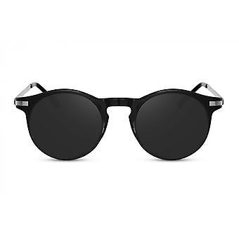 Okulary przeciwsłoneczne Unisex wokół w pełni oprawione czarny