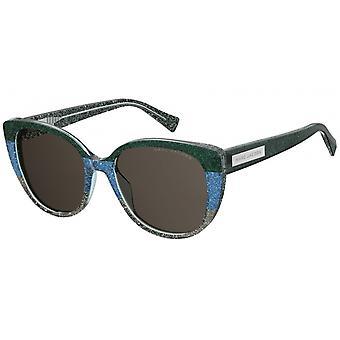 Sonnenbrille Damen  für   Cat-Eye grün/blau/graues Glitter