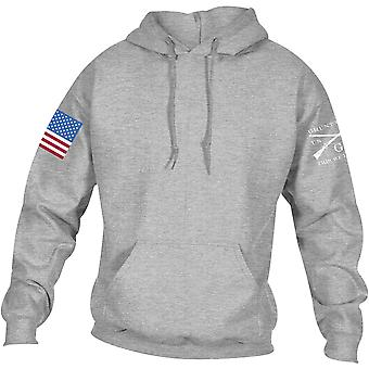 Grunt Style Full Color Flag Basic Pullover Hoodie - Sport Gray