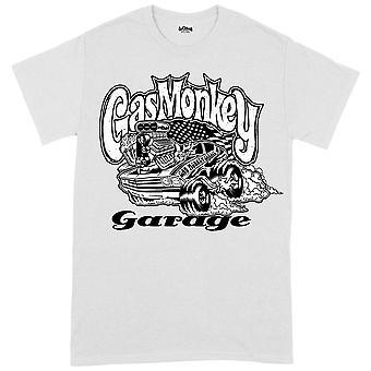 gass ape garasje muskel bil hvit offisiell tee t-skjorte unisex