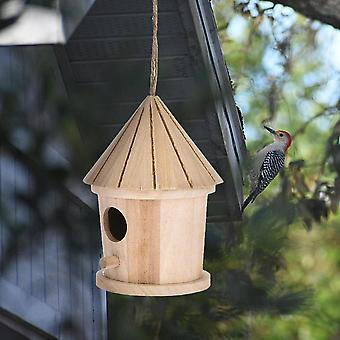 Wooden Hanging Bird House/cage - Wooden Wall Mounted Outdoor Resting Place