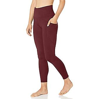 Core 10 Women's All Day Comfort High Waist Yoga Legging with, Fig, Size X-Large