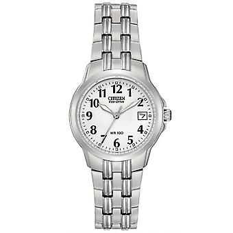 Citizen Watches Ew1540-54a Ladies Eco-drive Silhouette Sport Silver Stainless Steel Watch