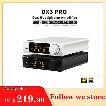 Topping Dx3 Pro Ldac Edition Bluetooth Decoding Amp Ak4493 Usb Dac Xmos Xu208 Dsd512 Hard Solution Headphone Output Tpa6120a2